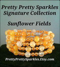 Quartzite Memory Wire Bracelet by Pretty Pretty Sparkles on Etsy #PrettyPrettySparkles PrettyPrettySparkles.Etsy.com