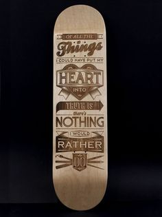 """""""Of all the things I could've put my heart into, truth is there's nothing I would rather do."""" type #typography inspiration"""