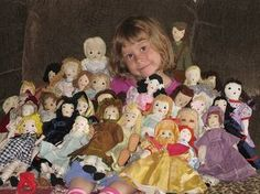 Anna, surrounded by Edith Flack Ackley dolls by grannyinak, via Flickr