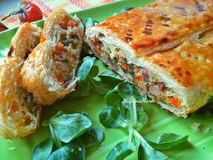 Strudel di verdure e pancetta