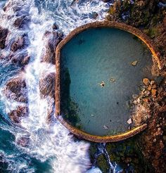 Notes: Photo Man-made ocean-filled pool in Victoria Beach, California by danielpeckham at places wow. Photo A woman floats in a swimming pool in Madrid, Spa… Great Places, Places To See, Beautiful Places, Beautiful Sky, Tiburon California, Places To Travel, Travel Destinations, My Pool, Usa Tumblr