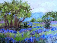 Landscape Artists International: In A Blue Mood, New Contemporary Landscape Painting by Sheri Jones