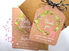 Woodland Boho Baby Shower Thank you Favour Tags - Set of 25