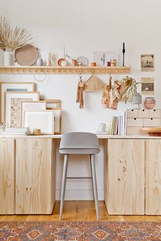 Working from home for the foreseeable future? Click through for foursimple suggestions for keeping your deskorganized to make working from home alittle easier. #deskorganization #organization #diy #diydesk #diyorganizer Ikea Ivar Cabinet, Ikea Cabinets, Desk Cabinet, Craft Cabinet, Storage Cabinets, Desk Hacks, Ikea Hacks, Ivar Ikea Hack, Ikea Hack Desk