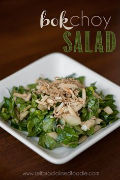 Bok Choy Salad - Easy to make and tastes a lot like California Pizza Kitchen's Chinese Chicken Salad!