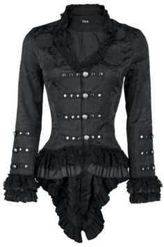 H-R-London-Jacket-Gloria-Gehrock-Gothic-Lolita-Steampunk-Vampire-Pirate-WGT-0919