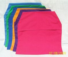 6 CHAIR POCKETS Seat Sacks Mix and Match by AbsolutelyDottie, $33.00