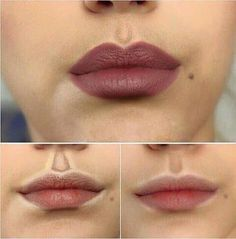 How to highlight contour your lips. IF you have time for this it looks like it can make a difference. But let's face it, we could only do all of these little tricks and tips if we had the entire Kardashian Makeup Team working on us. Eyebrow Makeup Tips Make Up Tutorial Contouring, Contouring And Highlighting, Lip Contouring, Contour Nose, Strobing, Contour Makeup How To Do, How To Contour Your Face, Lip Tutorial, Beauty Make-up