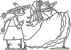 Spanish Couple Of Dancers coloring page - Free Printable Coloring Pages