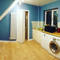 Big beautiful complete kitchen refurbishment by us with wooden Worktops and wooden look vinyl flooring  #western #bay #bristol #kitchen #wooden #worktops #tiles #lovely #gorgeous #lush #refurbishment #vinyl #flooring