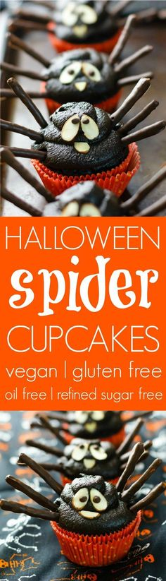 Celebrate All Hallow's Eve with rich chocolate cakes, thick fudge frosting, and adorable spider faces.