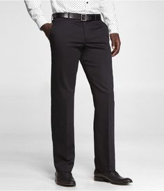 Express Mens Cotton Sateen Photographer Suit Pant Black, W34 L30