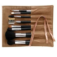 Ai (Love) * Brush Kumano Fude Makeup Brush  Portable Kumano Fude - Ai brush ASL-1/ARTST Long 8pcs with beige case (Ai brush 18-1L/Powder brush/Round, Ai brush 14-1L/Cheek brush/Round flat, Ai brush 12-1L/Eyeshadow brush/Round flat, Ai brush 10-2L/Eyeshadow brush/Round flat, Ai brush 10-4L/Brush and comb, Ai brush 8-2L/Eyeshadow chip)