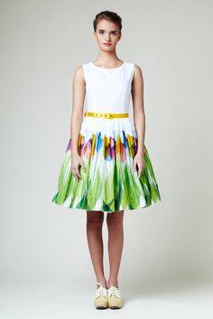 The Yellow Tulips Dress