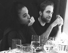 New/old pic of Robert Pattinson and FKA twigs, taken in London on Dec. 9, 2015, at Claridges Hotel dining room. They were having dinner with an Italian artist friend and the picture is from his IG. Giovanni Leonardo Bassan is based in Paris, and there is more information about him here.