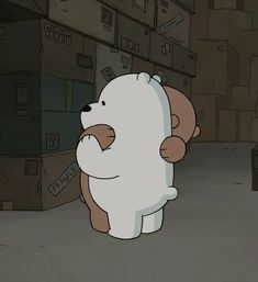 Descubre (¡y guarda!) tus propias imágenes y videos en We Heart It cartoon bear we bare bears shared by kevin chen on We Heart It