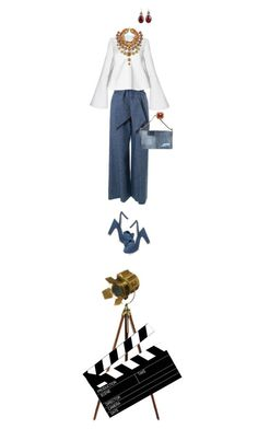 """I'm a total old movie buff, she said"" by fsommerv ❤ liked on Polyvore featuring MSGM, Charlotte Olympia and Dsquared2"
