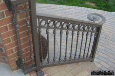 Exterior: Easy On The Eye Custom Porch Railings Vinyl Railings ...