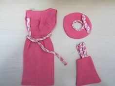 VINTAGE RARE HALINA'S DOLL FASHIONS CHICAGO BARBIE PINK DRESS HAT PURSE TAGGED (07/08/2012)
