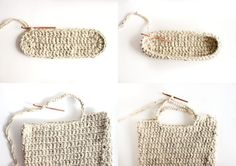 FREE crochet pattern : sturdy market tote // Delia Creates. Could cut up tshirts or plastic bags to use instead of yarn...