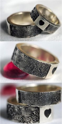 For the person who left their mark on your heart, treat them to a custom fingerprint ring to wear  forever. | Made on Hatch.co by independent designers & jewelry makers