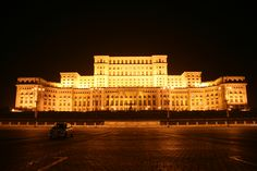 The most beautiful pictures of Romania: People's House (Palace of Parliament), Bucharest is the second largest building in the world Paranormal, Cool Places To Visit, Places To Travel, Palace Of The Parliament, Romania People, Bucharest Romania, Famous Buildings, Most Beautiful Pictures, Beautiful Places