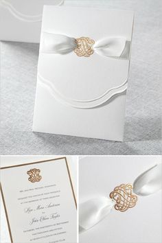 Traditional yet gorgeous wedding invite from @bwedding. #wchappyhour