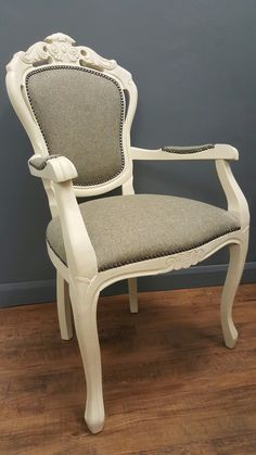 Annie sloan chalk paint paris grey and world map fabric by love french style chair upholstered with abraham moon wool fabric painted using annie sloan old ochre chalk paint gumiabroncs Image collections