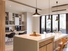 sunny urban kitchen