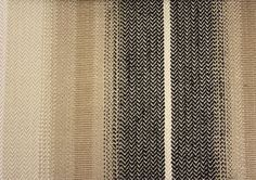 Tabriz Stripe Fabric A herringbone stripe in black and fawn with narrow cream lines.