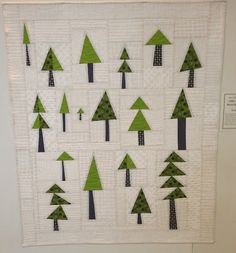 Awesome forest quilt by Central Oregon Modern Quilt Guild. Christmas Tree Quilt, Christmas Sewing, Christmas Quilting, Christmas Decor, Xmas, Christmas Blocks, Christmas Stockings, Central Oregon, Quilting Projects