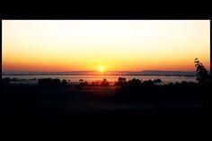 Sunrise Over Sea, Fog-sea over Szentendre, by Wlcsek Andras