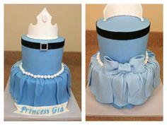Front & back of princess cake