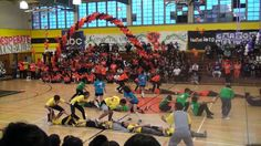1st place: Seniors 2nd place: Juniors 3rd place: Sophmores *disqualified* 4th place: Freshmen Freshmen didn't know how to play the game. Good job Sophmores, ...