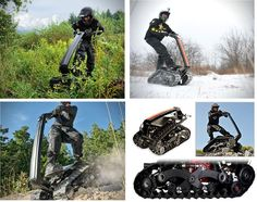 DTV Shredder – The Personal All Terrain Vehicle http://coolpile.com/rides-magazine/dtv-shredder-personal-terrain-vehicle/ via CoolPile.com - $3999 -     All Terrain, Cool, Firebox.com, Remote Control, Snow