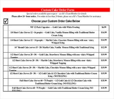 Cake Order Contract  Banquet Event Order Form  My Cakes Ideas