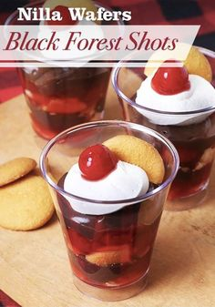 bake and uses only four ingredients! Nilla Wafers Black Forest Shots ...