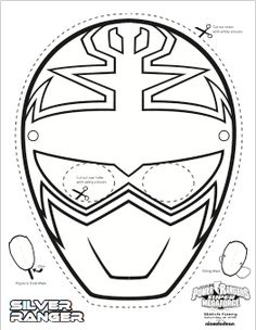 SUPER MEGA Power Rangers Printable - Coloring Masks