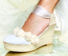 ASHLEY PLATFORM Wedge Lace Up Espadrille Boho style by IBICENCAS #bridalshoes #bridal #weddingshoes #wedding #bride #bohemian #boho #beachwedding #wedge #platform #heels #shoes #espadrilles #luxury #sandals #hippie #roses #flowers #anklets