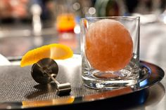 """""""In the rocks"""" cocktail. Once you destroy it with a slingshot, an Old Fashioned will pour out. Genius."""