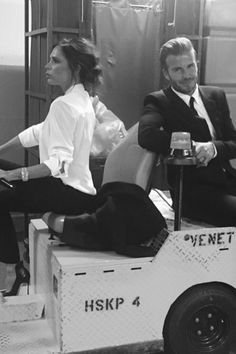 Victoria and David Beckham Wearing Matching Tuxedos Is All You Need to See Today