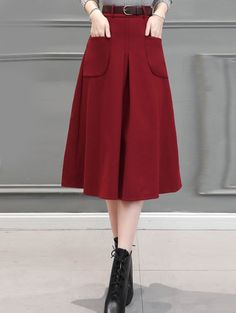 SHARE & Get it FREE | Wool Blend Midi Skirt With PocketFor Fashion Lovers only:80,000+ Items • New Arrivals Daily • Affordable Casual to Chic for Every Occasion Join Sammydress: Get YOUR $50 NOW!