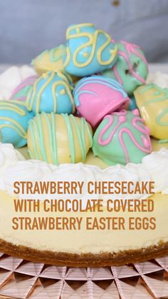 Strawberry Cheesecake with Chocolate Covered Strawberry Easter Eggs Strawberry Cheesecake with Chocolate Covered Strawberry Easter Eggs Imperial Sugar imperialsugar Easter Recipes Craft Ideas and Free Printables Strawberry Cheesecake nbsp hellip Strawberry Brownies, Strawberry Cheesecake, Chocolate Covered Strawberries, Oreos, Holiday Desserts, Holiday Treats, Easter Desserts, Brownie Recipes, Cheesecake Recipes