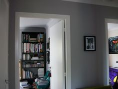 Chic Shadow grey paint by Dulux in endurance matt hallway/landing and stairway as well. Dulux Chic Shadow, Grey Hallway, Stair Landing, Grey Room, Hallway Ideas, Grey Paint, Paint Ideas, Stairways, Bedroom Ideas