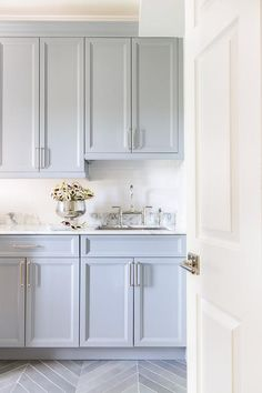 Laundry Room Tile, White Laundry Rooms, Laundry Room Cabinets, Laundry Room Design, White Bathrooms, Laundry Area, Luxury Bathrooms, Master Bathrooms, Dream Bathrooms