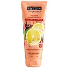Freeman Beauty, Feeling Beautiful, Clearing Peel-Off Clay Mask, Sweet Tea + Lemon, 6 fl oz ml) Freeman Clay Mask, Freeman Face Mask, Face Care, Body Care, Skin Care, Face Mask Peel Off, Rich Tea, Lighten Dark Spots, Cucumber Mask