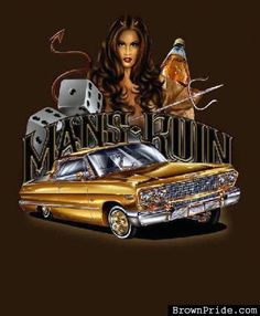 """/""""The Other Woman/"""" Lowrider Car Beautiful Girl City Urban Style Art Poster"""