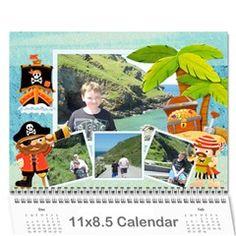 Pirate Pete 2013 Calendar by Catvinnat~CatDesignz - Wall Calendar 11 x 8.5 (12-Months) - a9np5o4emdw1 @ www.artscow.com