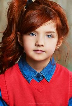 this is definitely the little sis. Maybe she should have the green eyes like the picture next to this