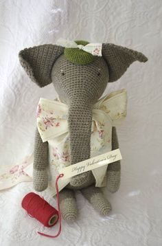 Nora the crochet elephant
